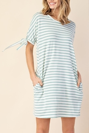 Mittoshop Stripe Tie-Sleeve Dress - Front full body
