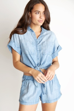 Bella Dahl Stripe Tie-Up Shirt - Product List Image
