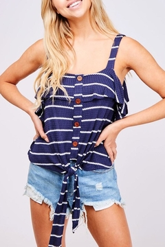 Peach Love California Stripe Top - Product List Image