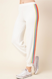 Honey Punch Stripe Track Pants - Back cropped