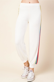 Honey Punch Stripe Track Pants - Front full body