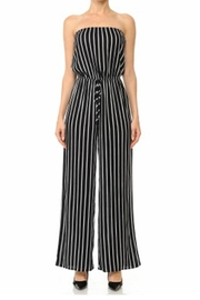 ambiance apparel Stripe Tube Jumpsuit - Product Mini Image