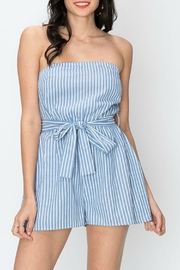 Favlux Stripe Tube Romper - Product Mini Image