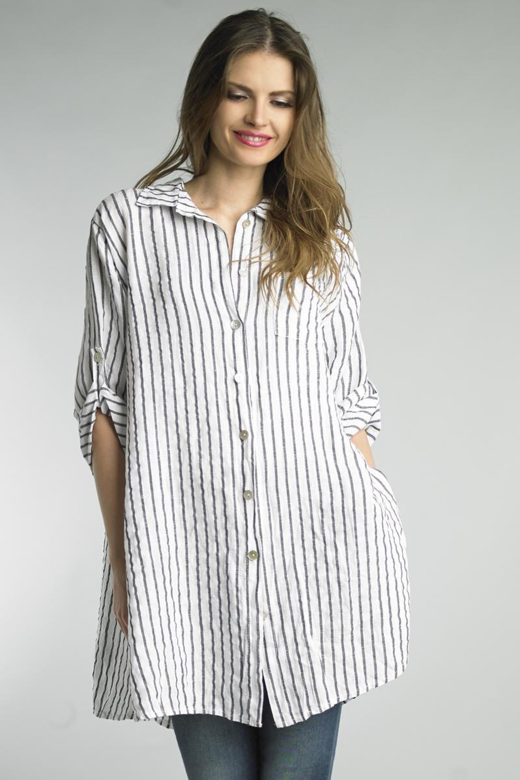 c3fb93a9b64 Tempo Paris Stripe Tunic Shirt from Cambria by New Moon — Shoptiques