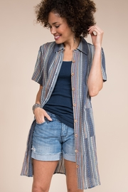 Ivy Jane  Stripe Tunic/Shirt With Pockets - Side cropped