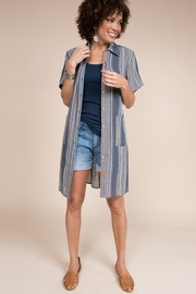 Ivy Jane  Stripe Tunic/Shirt With Pockets - Front full body