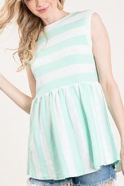 Lyn -Maree's Stripe Tunic Tank - Front cropped