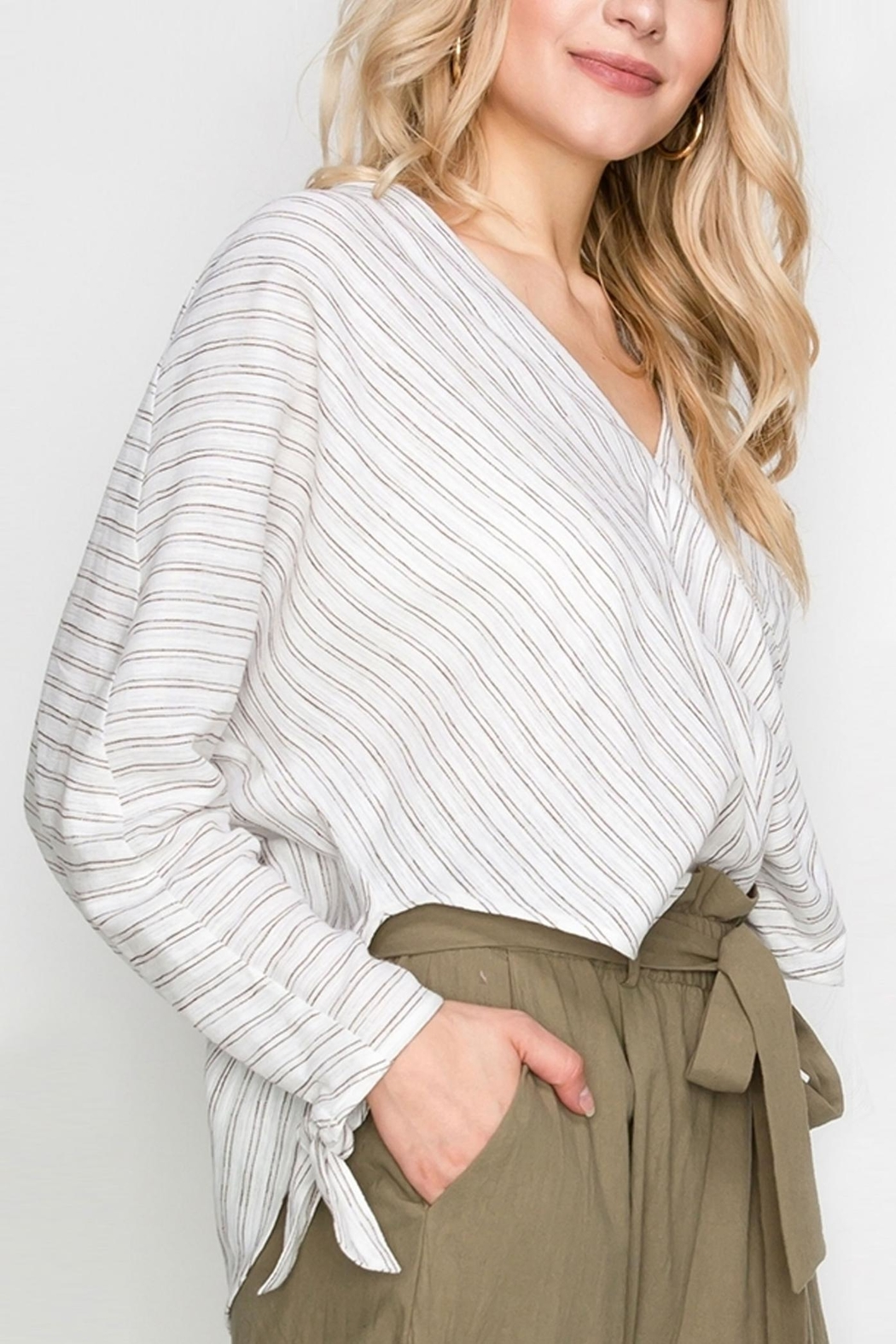 Favlux Stripe Tunic Top - Side Cropped Image