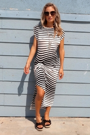 Minx Stripe Twist Dress - Product Mini Image