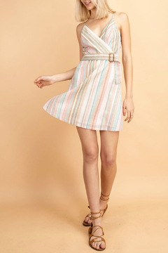 lelis Stripe waist belt surplus dress - Product List Image