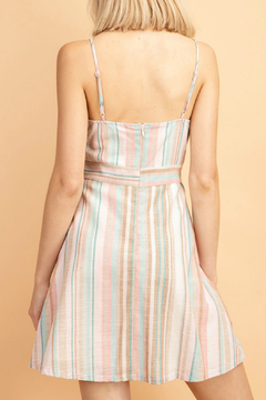 lelis Stripe waist belt surplus dress - Alternate List Image