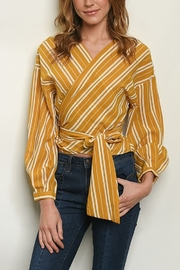 Lyn-Maree's  Stripe Wrap Blouse - Product Mini Image