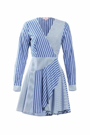 Renamed Clothing Stripe Wrap Dress - Product Mini Image