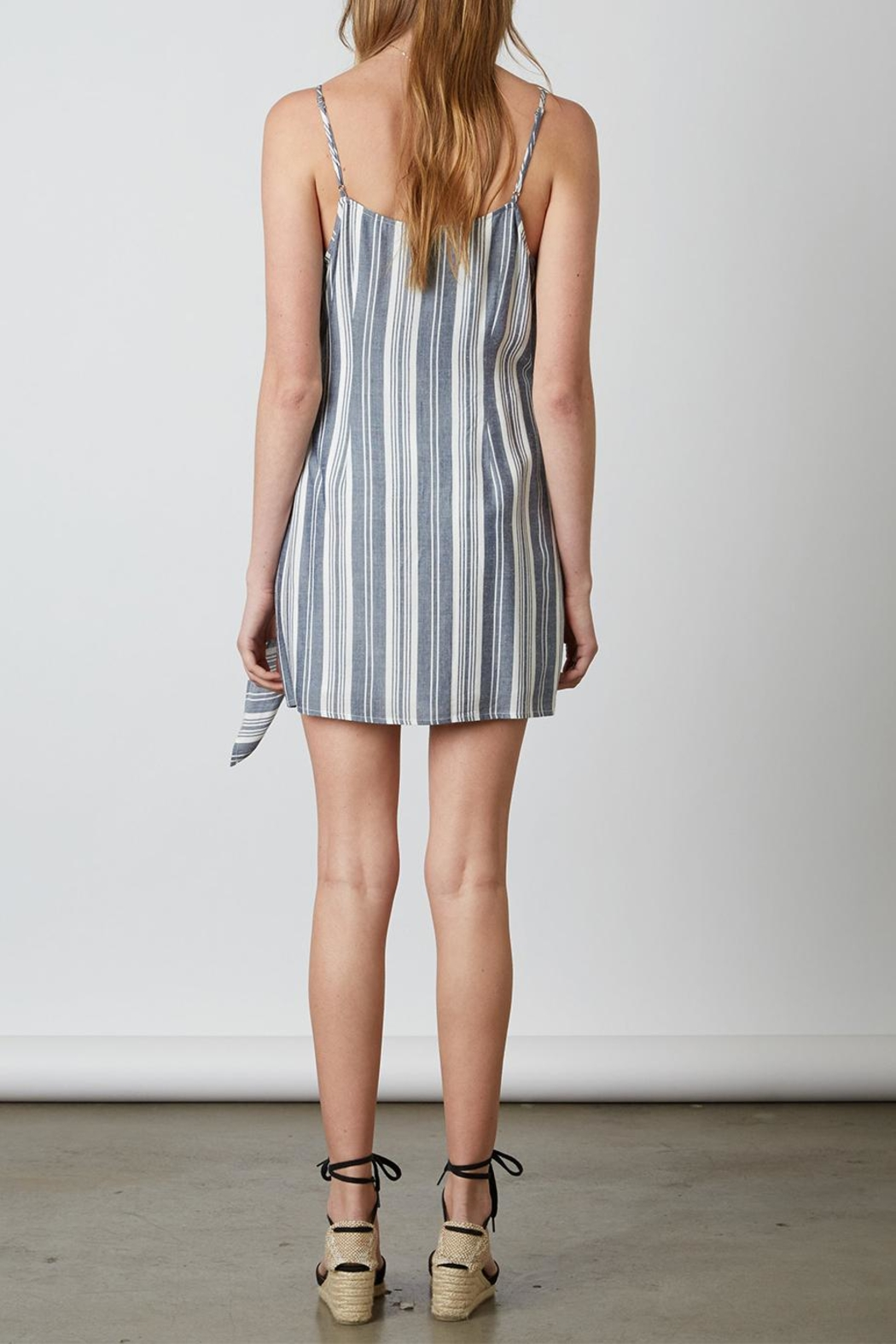 Cotton Candy Stripe Wrap Dress - Front Full Image