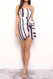 Blithe  Stripe Wrap Dress - Product Mini Image