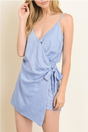 dress forum Stripe Wrap Romper - Product Mini Image