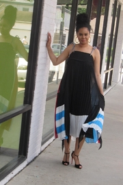 MODChic Couture Striped Abstract Maxi - Product Mini Image
