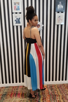 MODChic Couture Striped Abstract Maxi - Alternate List Image