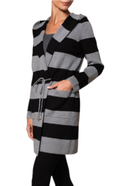 Elena Wang  Striped Anorak Cardigan - Front cropped