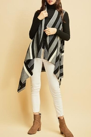 Entro Striped Asymmetrical Vest - Product Mini Image