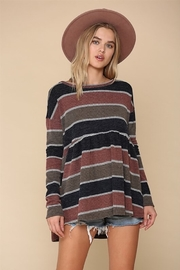 By Together  Striped Baby Doll Hacci Top - Product Mini Image