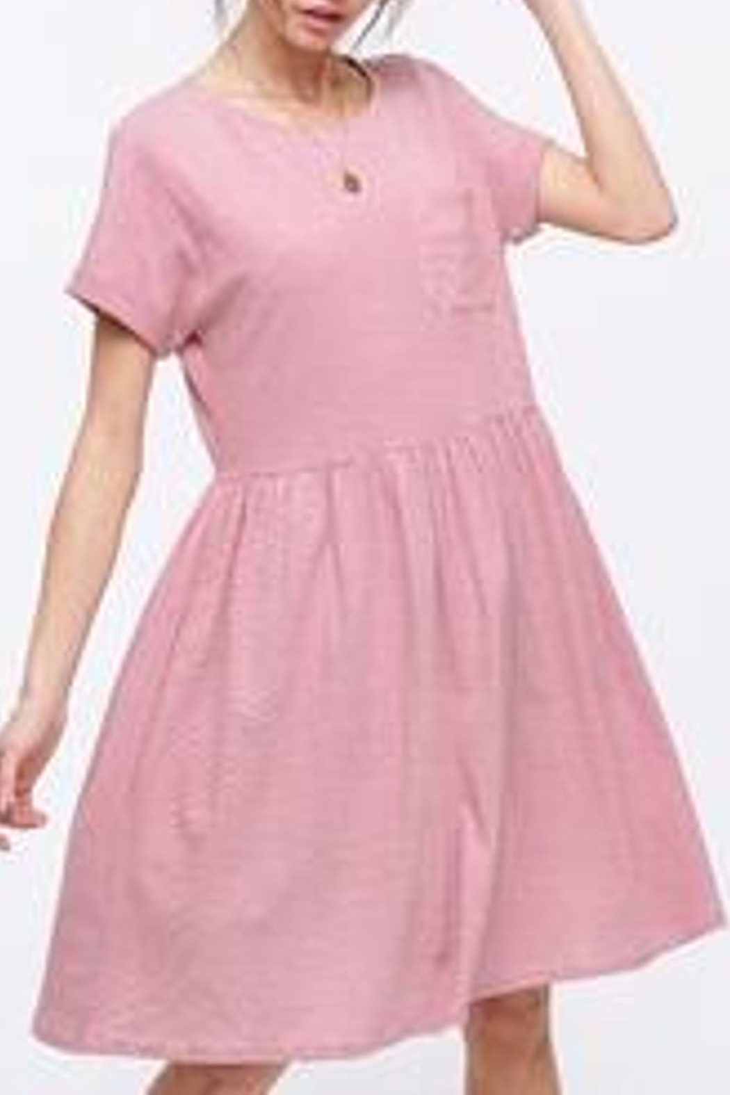 Listicle Striped Babydoll Dress - Side Cropped Image