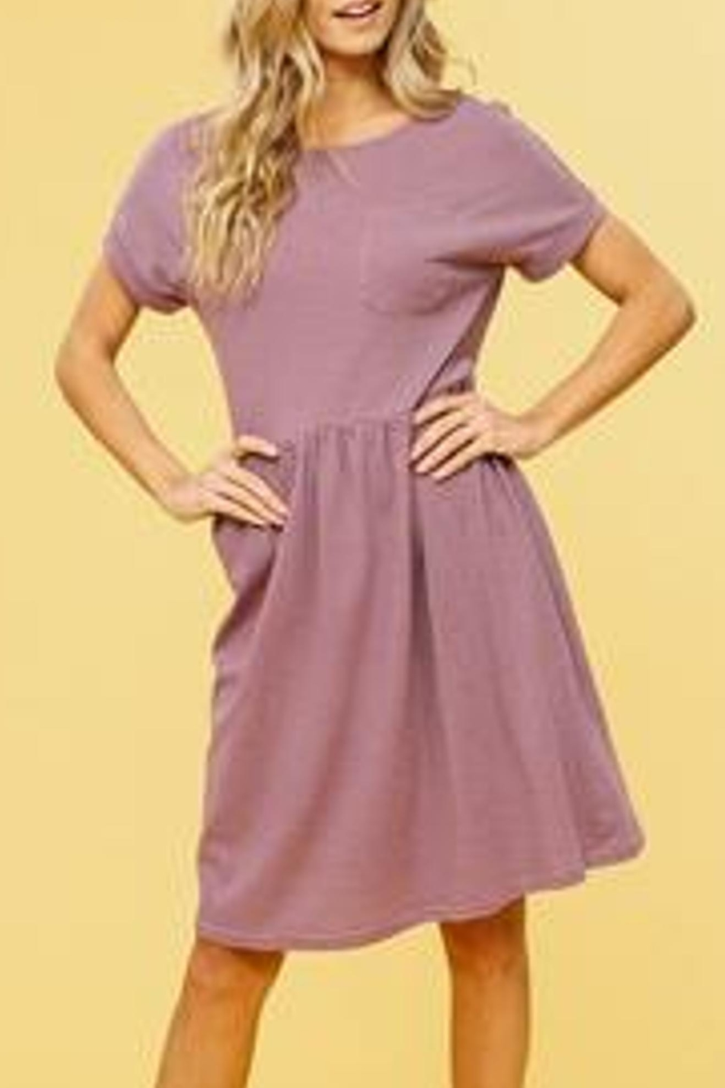 Listicle Striped Babydoll Dress - Front Cropped Image