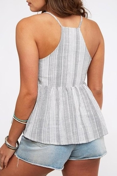 Peach Love California Striped Babydoll Top - Alternate List Image
