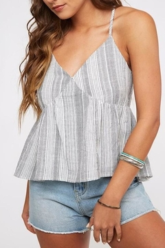 Peach Love California Striped Babydoll Top - Product List Image