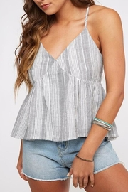 Peach Love California Striped Babydoll Top - Product Mini Image