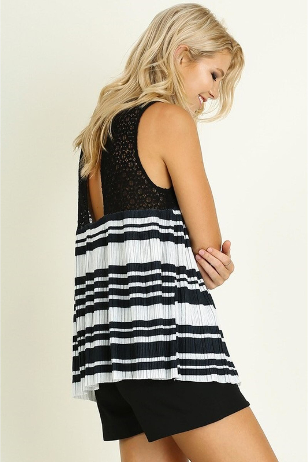 People Outfitter Striped Babydoll Top - Main Image