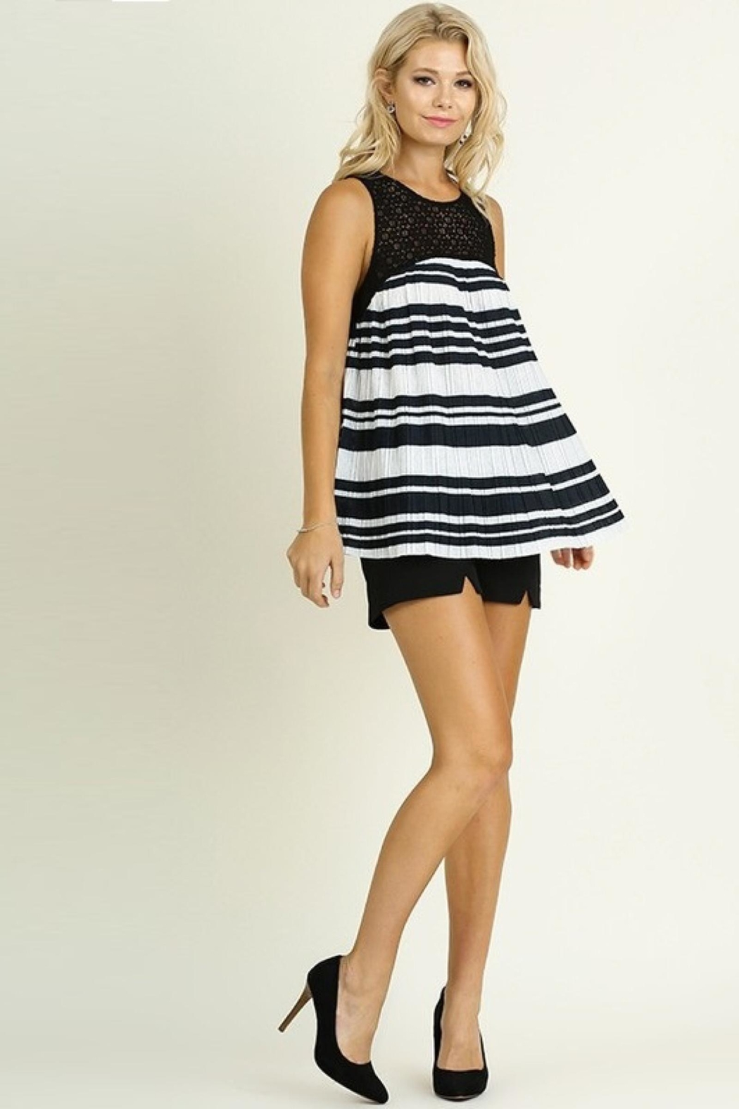 People Outfitter Striped Babydoll Top - Front Full Image