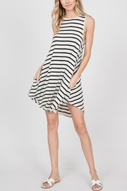 AL Boutique Striped Back-Button Dress - Product Mini Image