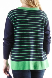 Cortland Park Cashmere Striped Back Sweater - Product Mini Image