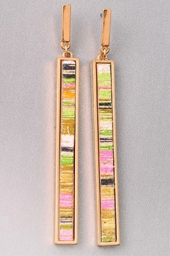 Miss Darlin Striped Bar Earrings - Product List Image