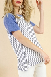 Umgee USA Striped Baseball Tee - Product Mini Image