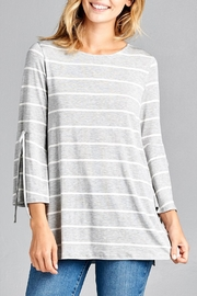 Cotton Bleu Striped Bell-Sleeve Top - Product Mini Image