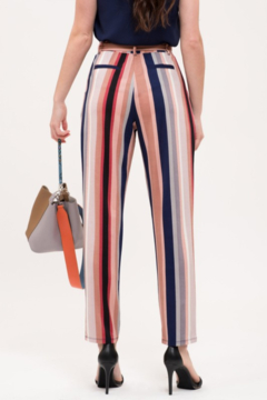 Mine and E&M Striped Belted Pants - Alternate List Image