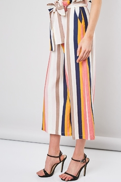 Shoptiques Product: Striped Belted Pants