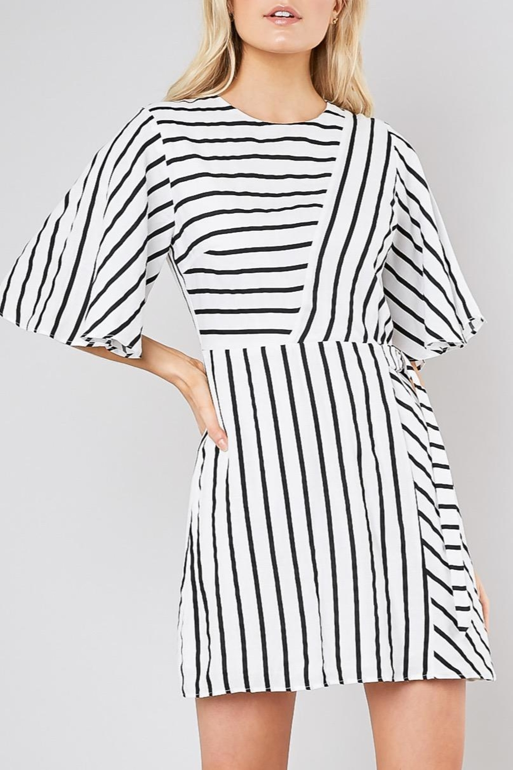 Do & Be Striped Belted Shift-Dress - Main Image