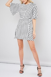 Do & Be Striped Belted Shift-Dress - Front full body