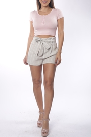 Cattiva Girl Striped Belted Shorts - Product Mini Image