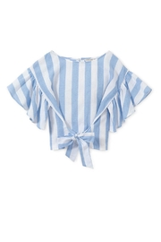 Habitat Striped Belted Top - Front full body