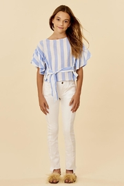 Habitat Striped Belted Top - Front cropped