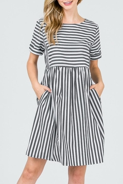 Ces Femme Striped Bib Dress - Product List Image
