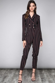 Do & Be Striped Blazer Jumpsuit - Product Mini Image