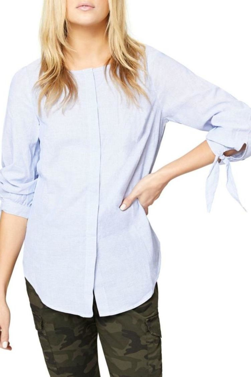 Sanctuary Striped Blouse - Front Cropped Image