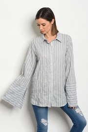 Audrey 3+1 Striped Blouse - Product Mini Image