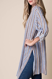 KORI AMERICA Striped Blouse - Product Mini Image