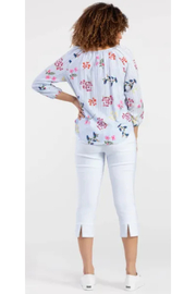 Tribal  Striped Blouse with Florals - Side cropped
